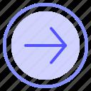 arrow, interface, media, right icon
