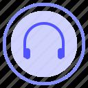 headphone, interface, media, speaker icon