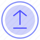 arrow, file, interface, upload icon