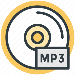 audio cd, audio file, mp3, mp3 cd, mp3 file icon