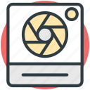 aperture, camera lens, camera shutter, photography, shutter icon
