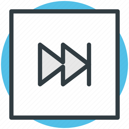 forward arrow, forward button, multimedia button, music player, next track icon