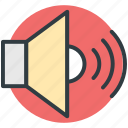 loudspeaker, sound, speaker, voice, volume icon