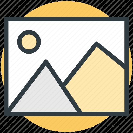 landscape, photo, photo frame, picture, scenery icon