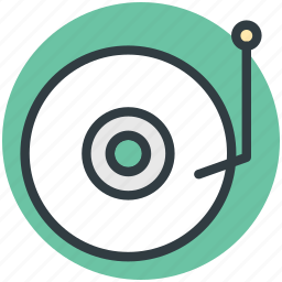 multimedia, music, record player, turntable, vinyl player icon