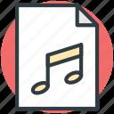 audio file, music album, music file, song, sound track icon