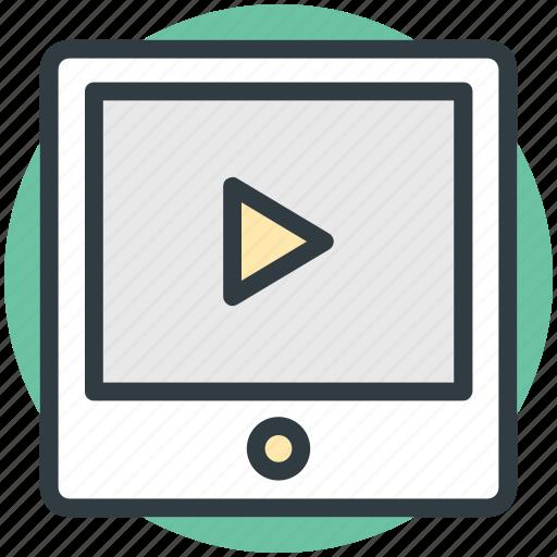 media, media player, multimedia, tablet, video player icon