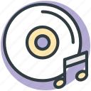compact disk, media, multimedia, music cd, music dvd icon