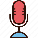 mic, microphone, multimedia, sing, speak icon