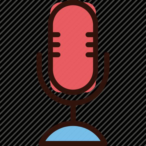 mic, microphone, multimedia, sing, speak icon
