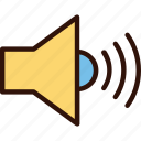megaphone, multimedia, sound, speaker icon
