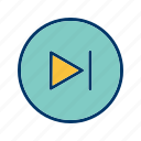 go, musicplayer, next, play, player, video, videoplayer icon