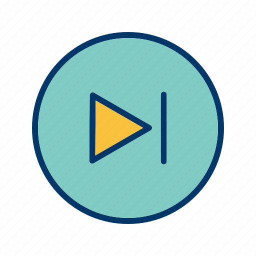 forward, music player, next icon