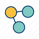 connection, network, share icon