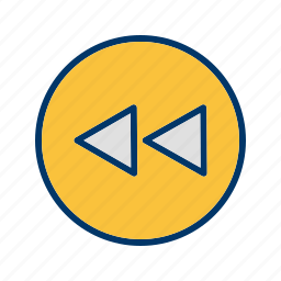 arrows, back, left, move, musicplayer, play, previous icon