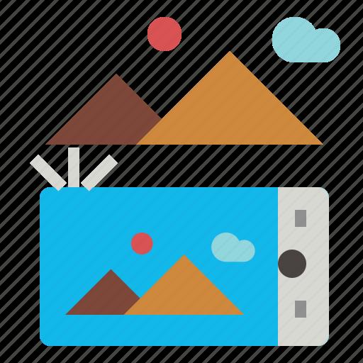 camera, smartphone icon