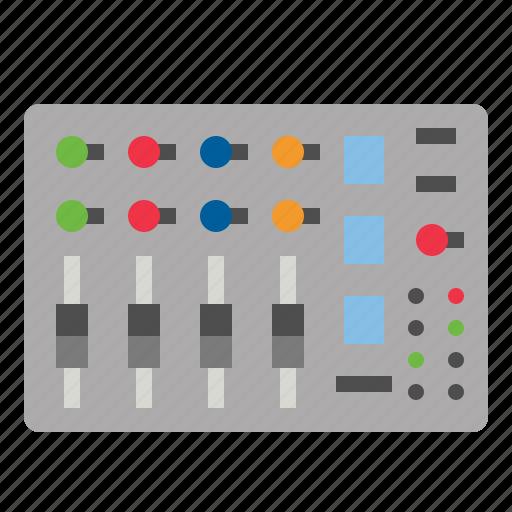 mixer, radio, sound icon