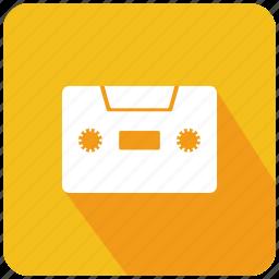 audio, audio cassette, audiotape, cassette, multimedia, music, tape icon