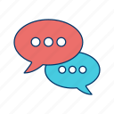 chat, communication, conversation, message, sms, talk, text icon