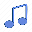 audio, media, music, music note, player, sound, speaker icon