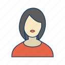avatar, female, female avatar, people, person, profile icon