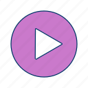 audio, media, movie, multimedia, play, player, sound icon