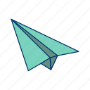 aeroplane, airplane, flight, fun, paper, paper plane, plane icon