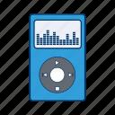 audio, movie, multimedia, music, play, player, video icon