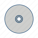cd, compact disk, data, database, disk, dvd, storage icon
