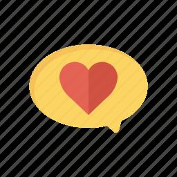 bubble, chat, comment, heart icon