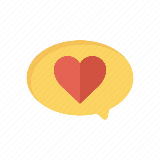 Bubble, chat, comment, heart icon - Download on Iconfinder