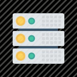 database, hardware, server, storage icon