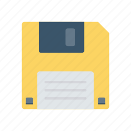disk, diskette, floppy, save icon