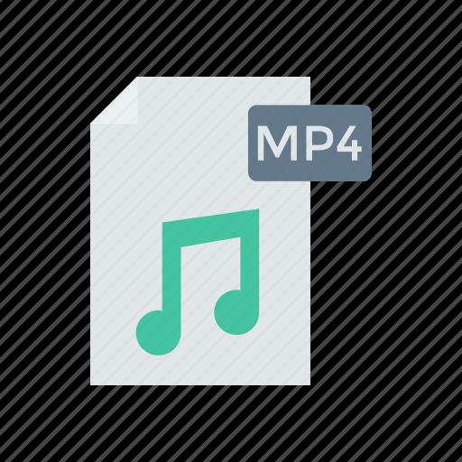 document, file, mp4, music icon