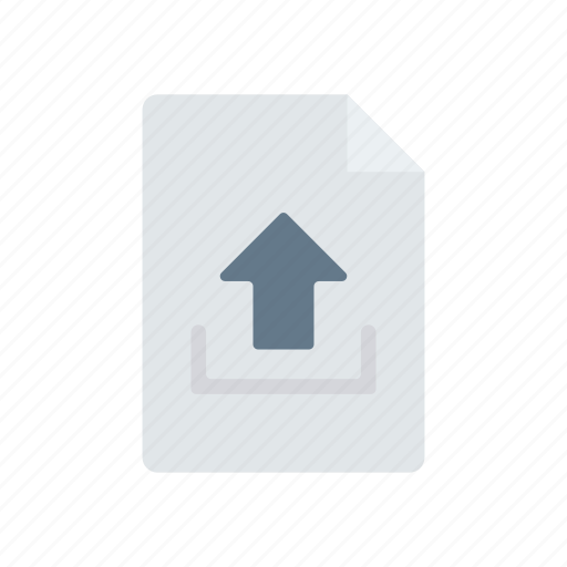 document, export, file, upload icon