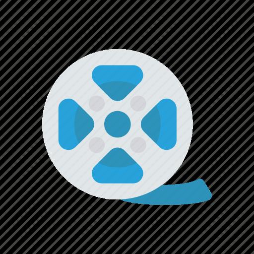 film, movie, reel, tape icon