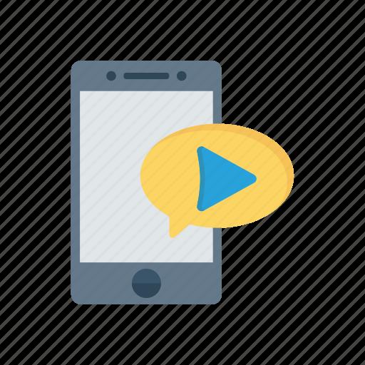 bubble, device, mobile, phone icon