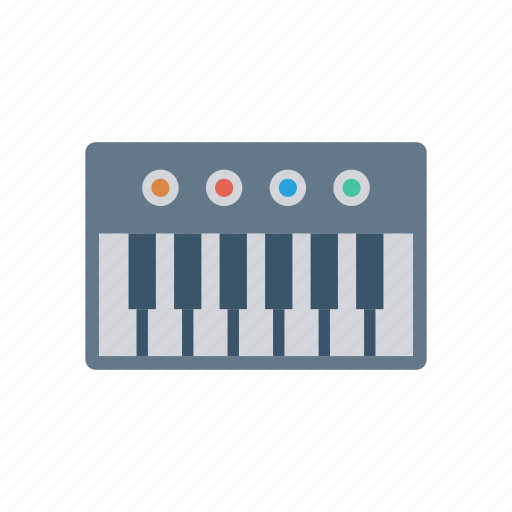 instrument, music, piano, pianokey icon