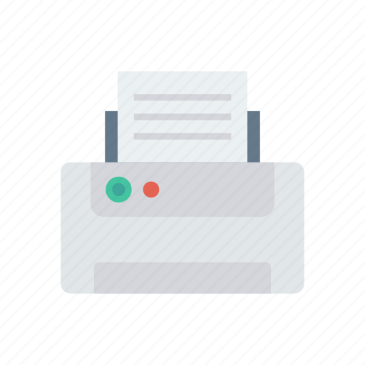 Device, fax, paper, printer icon - Download on Iconfinder