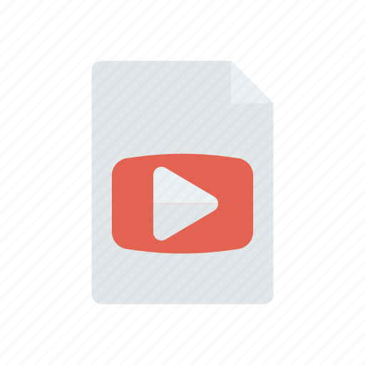 document, file, mp4, video icon