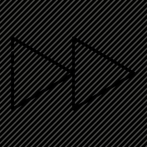 forward, music, record, video icon