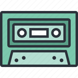 audio, cassette, multimedia, music, sound icon