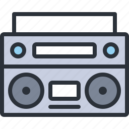 audio, cassette, multimedia, music, player, sound icon