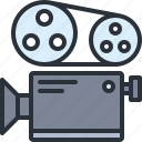 audio, camera, film, movie, multimedia, record, video icon