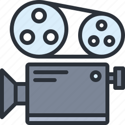 audio, camera, film, movie, multimedia, record, video icon