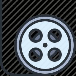 film, movie, multimedia, strip, video icon