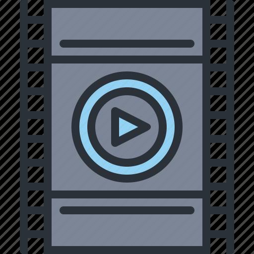 audio, film, movie, multimedia, strip, video icon