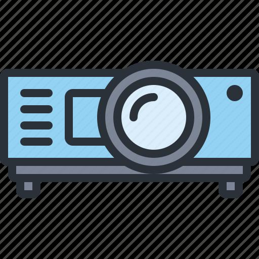 device, multimedia, presentation, projector, video icon