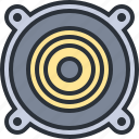 audio, multimedia, music, sound, speaker icon