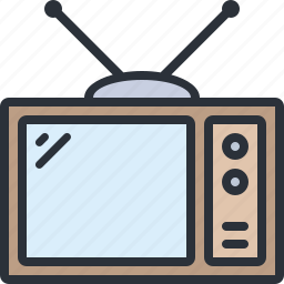 device, multimedia, show, television, tv icon